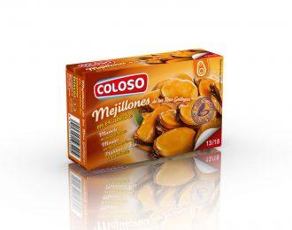 Mejillón de las Rías Gallegas Coloso en Escabeche  13/18 P. Estuche 65 gr.
