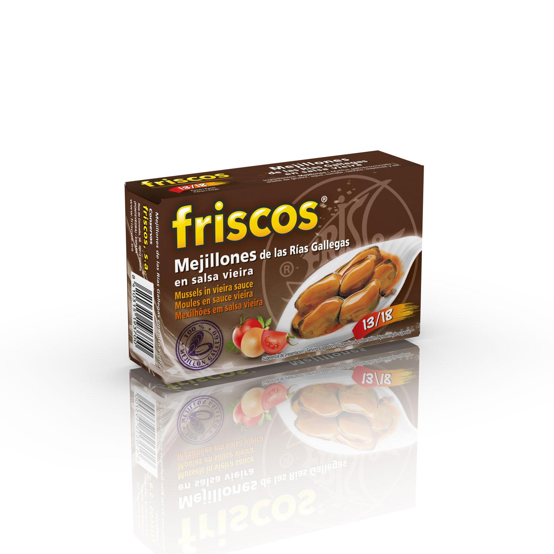 Mejillón de las Rías Gallegas Friscos en Salsa de Vieira  13/18 P. Estuche 65 gr.
