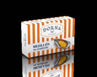 Mejillones 25/30 piezas en salsa escabeche Dorna